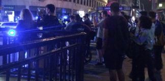 Witnesses by Monument Station near London Bridge Photo (C) EXPRESS