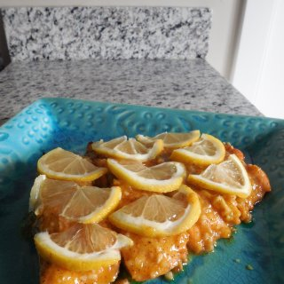 Baked Honey Ginger Salmon