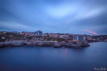 Cala Figuera kurz nach Sonnenuntergang
