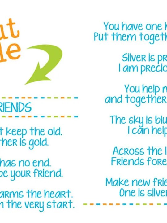Girl Scout Friendship Song : scout, friendship, Friends, Scout, Lyrics, Printable