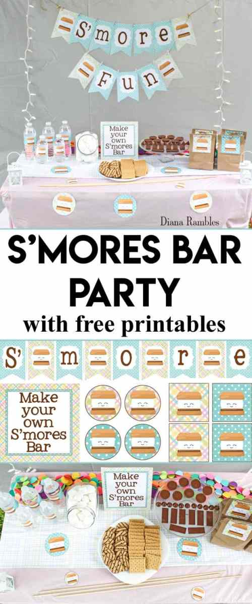 small resolution of s mores bar backyard party with free printables want to throw a backyard party