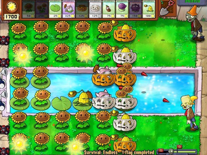 Plants VS Zombies Survival: Endless100FlagsSetup (4/6)