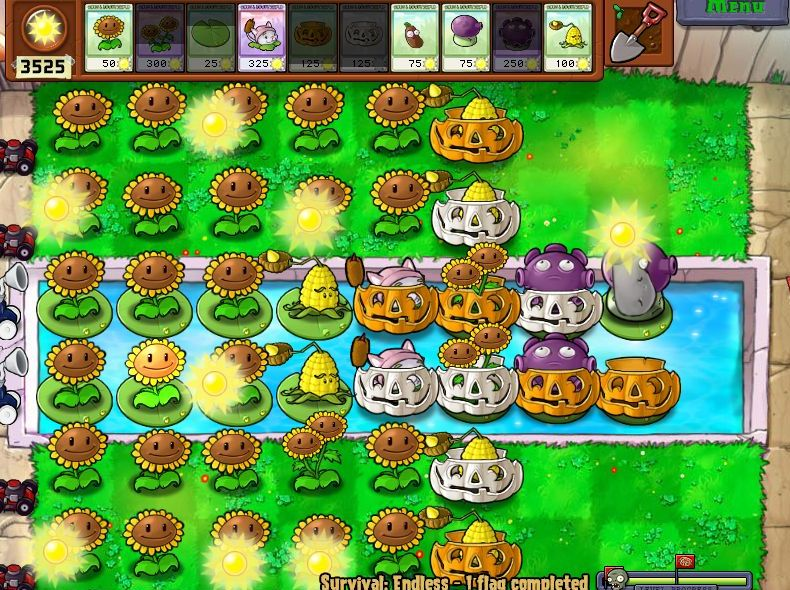 Plants VS Zombies Survival: Endless100FlagsSetup (5/6)