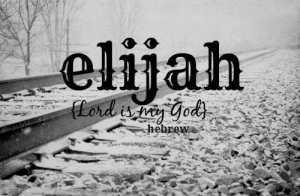 elijah name