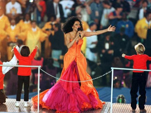 Diana Ross at the Super Bowl 1996