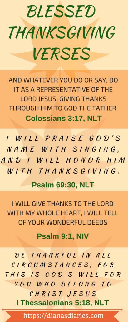 Thankgiving Bible Verses
