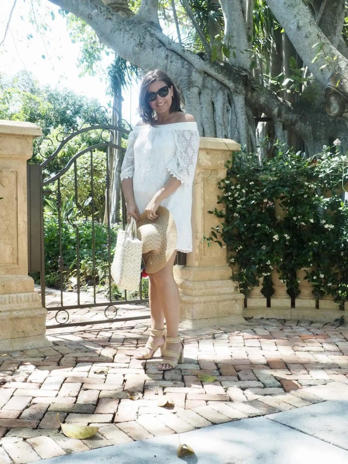 My Favourite Lace Off The Shoulder White Dress For Summer