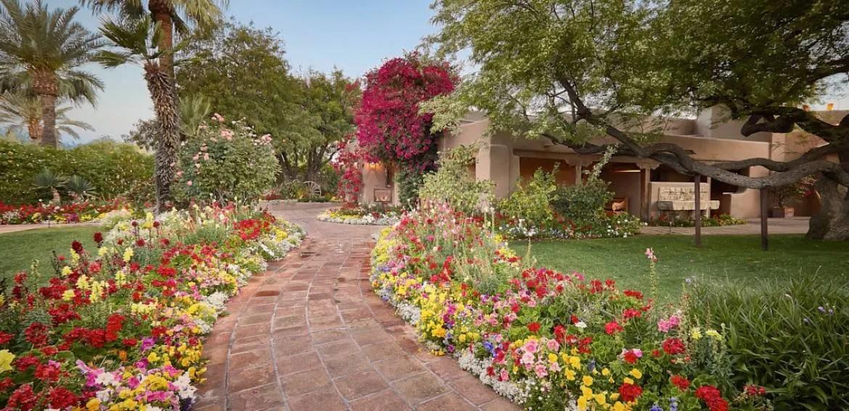Hermosa Inn Walkway with flowers