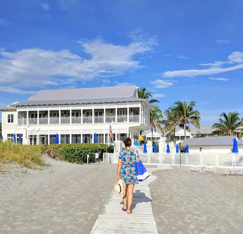 seagate beach club wooden walkway to Delray beach