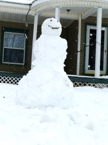 This is the first snowman I've built in years. A masterpiece!
