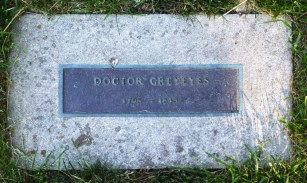 This marker honors Doctor Grey Eyes.