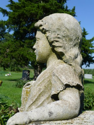 Girl facing the trail Overbrook Cemetery