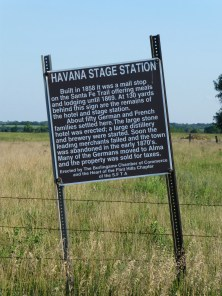 New marker commemorating the Havana Stage Station.