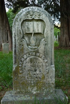 Headstone for Elizabeth Holaday, 1797-1874.