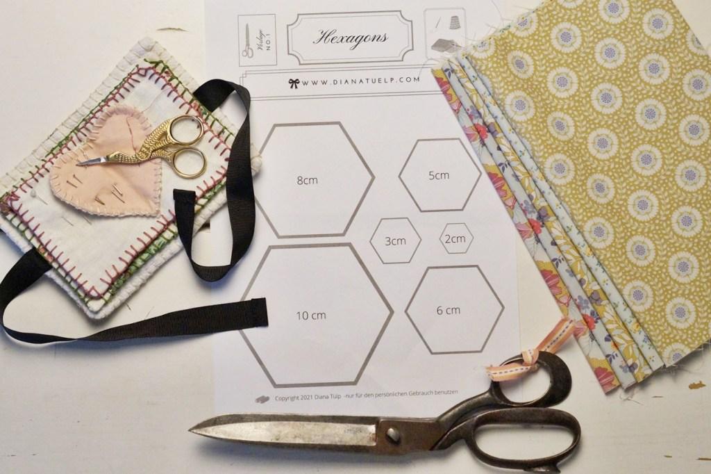Hexagon Vorlage gratis download