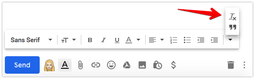 Gmail Clear Formatting