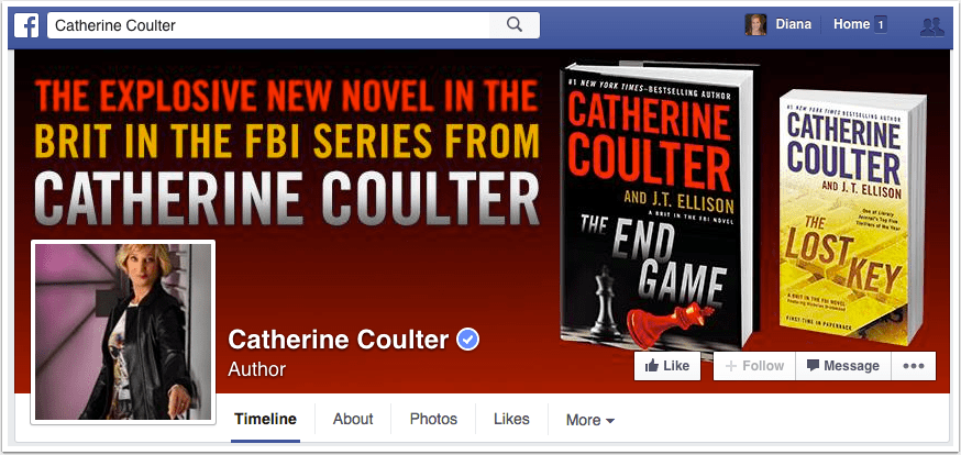 Catherine Coulter Facebook Page