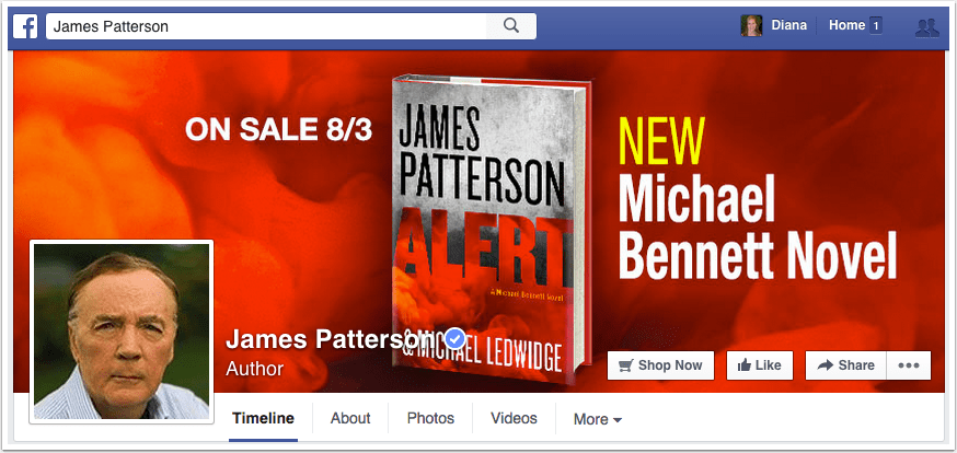 James Patterson Facebook Page