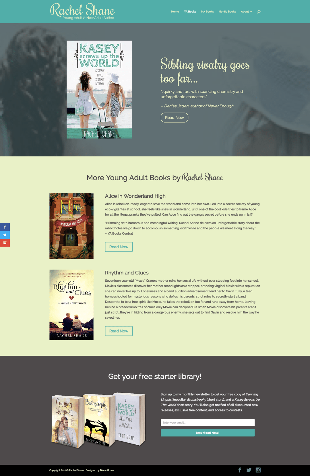 Rachel Shane's Young Adult Books Page