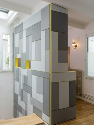 Fluid, hidden mosaic storage from julierosier.com. Seamless, practical, life-saving.