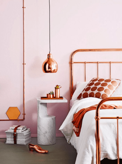 Extra_Copper Bed Frame