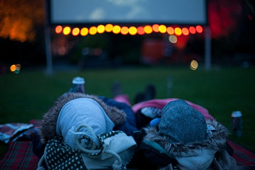 Wrapped up warm for movies in Fitzwilliam Park © Clare Mulvany