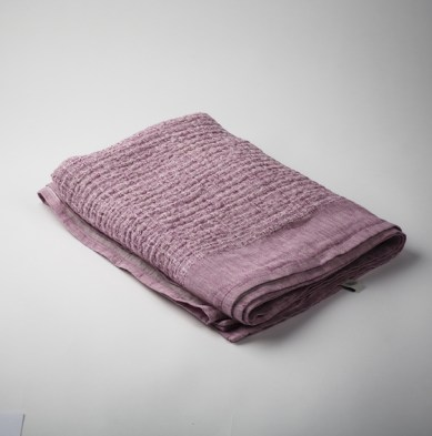 Enrich & Endure Irish linen throw in Fuchsia Ripple, €220, wearemaven.co.uk