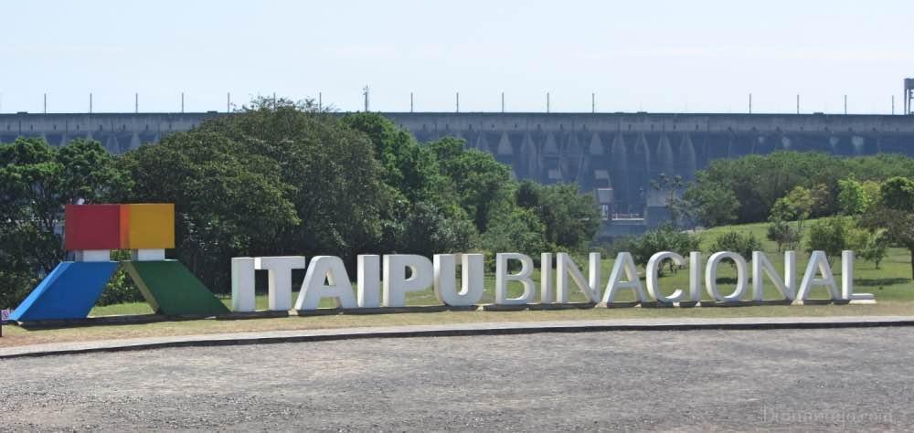 Usina hidrelétrica de Itaipu em Foz do Iguaçu