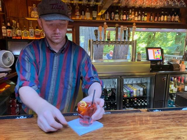 Negroni at Fernwood Inn, Big Sur