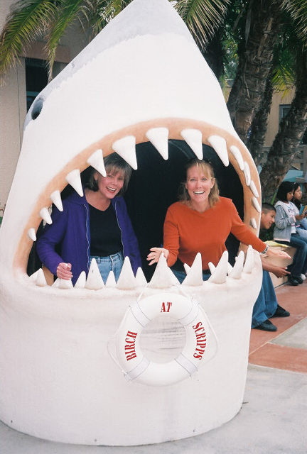 Karen and Diane Gobbled up by a Shark!