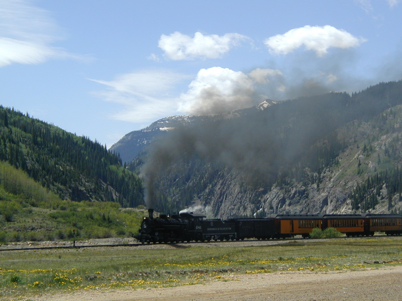 The Train Approaches Silverton