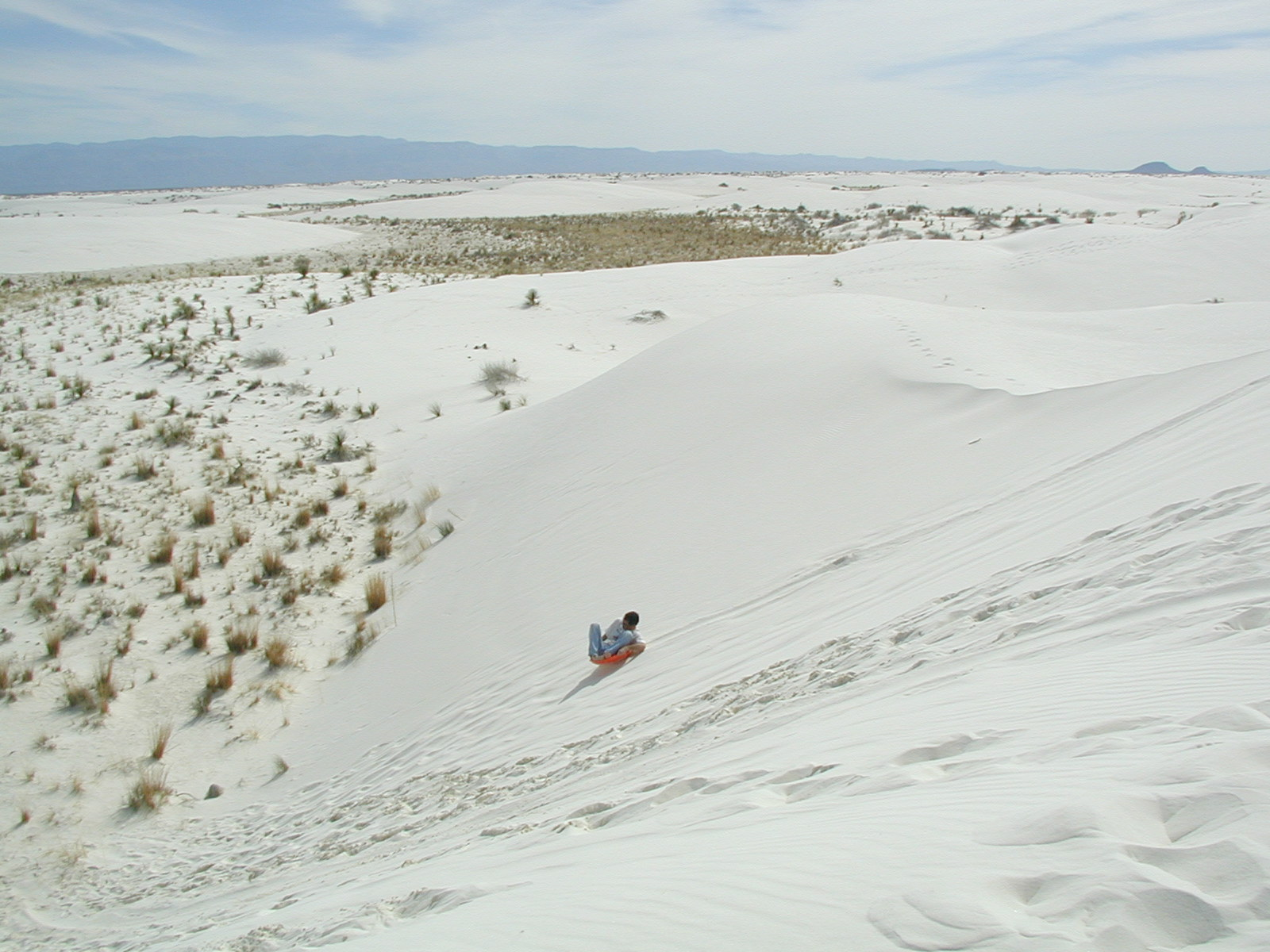 Andy Sledding the Dunes