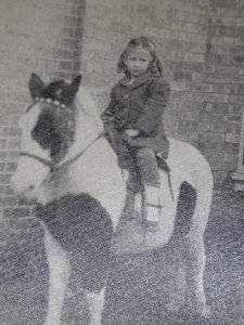 Posing on a pony