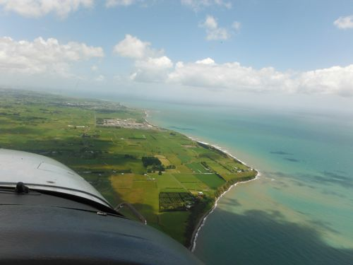 Taranaki from above.