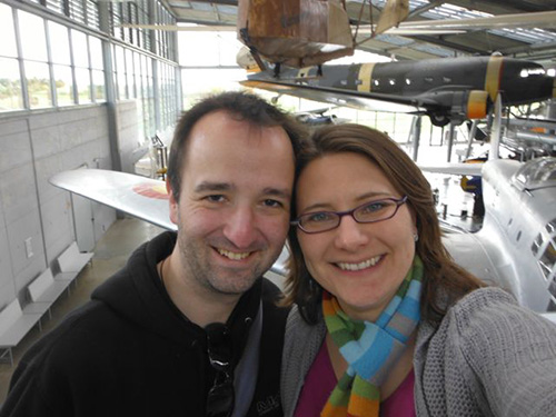 Selfie at the Flugwerft.