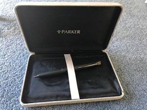 Kai's Parker pencil, the gift from his Twitter Secret Santa.