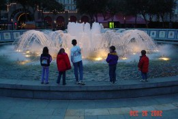 Kids at the fountain in New Orleans.