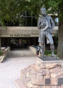 This is the front of the Boy Scouts of America headquarters, across the street from the museum.  We found a geocache here!