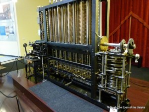 This engine was designed by Babbage in 1849 but not built and verified until 2008.