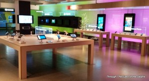 Microsoft has many products on display in their visitor center