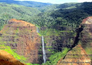 Closer view of Waipoo Falls
