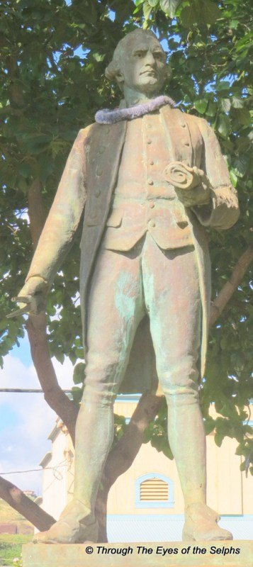 Replica of statue in Whitby, England of Captain James Cook 1728 - 1779