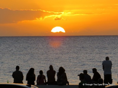 Kihei Maui sunset viewed everyday by fellow vacationers