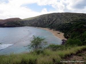 Hanauma Bay has a big reef to snorkel over