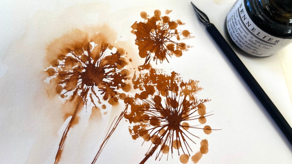 Techniques for creating seed heads include printing with Q-tips