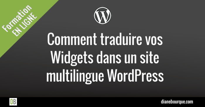 Traduire des widgets dans un site multilingue WordPress