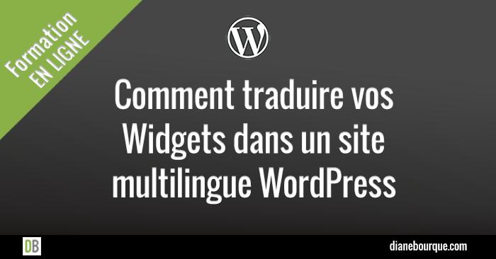 Traduire des widgets dans un site multilingue WordPress