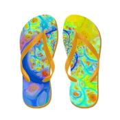 Abstract Fractal Emerging Galaxies, Teal & Lime Currents Flip Flops, Joyfully Streaming into the Unknown