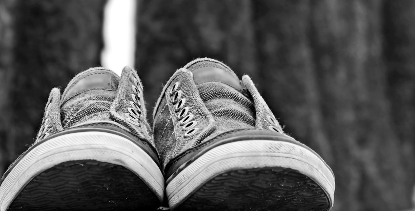 Empty Sneakers standing in for Empty Nest