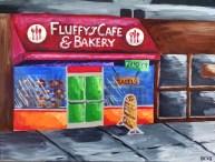 "Fluffy's Oasis, Diane Dyal, Acrylic, 18""x24"", 2015"